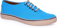 Pery-Pao Mens blue canvas Sneakers(Blue)