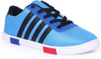 Pery-Pao Mens blue Mesh Sneakers(Blue, Black)