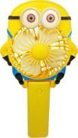 View Montez Minion Foldable & Portable Q10 USB Fan(Yellow) Laptop Accessories Price Online(Montez)