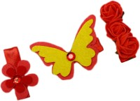 Dchica Lovely Set Of 3 Hair Accessory Set(Multicolor) - Price 139 30 % Off