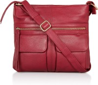 Leather Zentrum Shoulder Bag(Purple)
