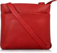 Leather Zentrum Shoulder Bag(Red)