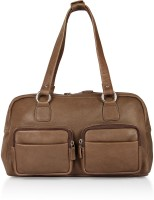 Leather Zentrum Hand-held Bag(Brown)