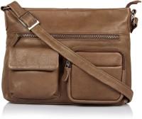 Leather Zentrum Shoulder Bag(Brown)