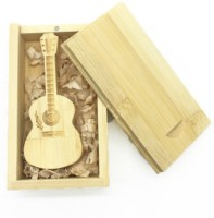 Green Tree WoodenGuitarwithbox 32 GB Pen Drive(Gold)