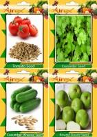 Airex Tomato, Coriander (Dhaniya), Cucumber (Kheera), Round Gourd (Tinda) Seed(25 per packet)