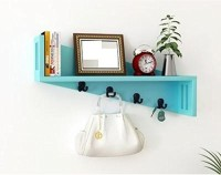 View khan handicrafts k09 MDF Wall Shelf(Number of Shelves - 1, Blue) Furniture (Khan Handicrafts)