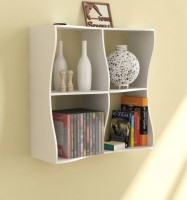View Masterwood home wall shelve MDF Wall Shelf(Number of Shelves - 4, White) Furniture (Masterwood)