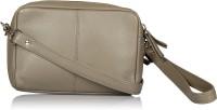 Leather Zentrum Shoulder Bag(Grey)
