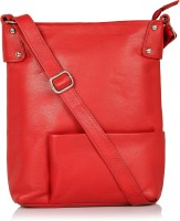Leather Zentrum Women Red Genuine Leather Sling Bag