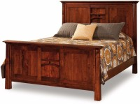 View NIDOO Queen size bed Solid Wood Queen Bed(Finish Color -  Polished) Furniture (NIDOO)