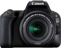 Canon EOS 200D DSLR Camera EF-S18-55 IS STM  EF-S 55-250 mm IS II(Black)