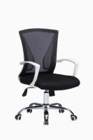 View ZENNOIIR Office Chairs Fabric Office Arm Chair(Black) Furniture (ZENNOIIR)