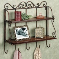 View Artesia Antique Wooden Wall Shelf(Number of Shelves - 1, Brown) Furniture (Artesia)