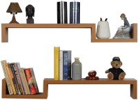 View Artesia Contemporary Style Oak Wooden Wall Shelf(Number of Shelves - 2, Brown) Furniture (Artesia)