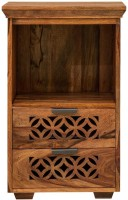 View NIDOO Jazz Small Cabinet Solid Wood Side Table(Finish Color - Waxed) Furniture (NIDOO)