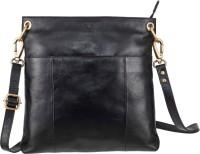 Klasse Women Black Genuine Leather Sling Bag