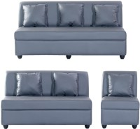 View Bharat Lifestyle Delta Leatherette 3 + 2 + 1 Grey Sofa Set(Configuration - 3+2+1) Furniture (Bharat Lifestyle)