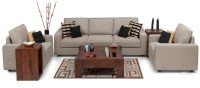 View Dream Furniture Fabric 3 + 1 + 1 Beige Sofa Set(Configuration - Made from high quality material) Furniture (Dream Furniture)