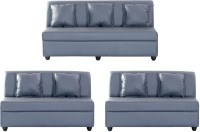 View Bharat Lifestyle Delta Leatherette 3 + 2 + 2 Grey Sofa Set(Configuration - 3+2+2) Furniture (Bharat Lifestyle)