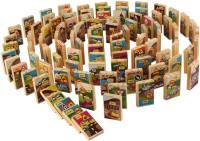 PIGLOO Wooden Domino Tiles with Traffic Signs & Symbols Board Game