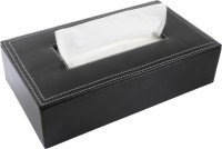 Umda 1 Compartments Faux Leather Tissue Box And Tissue Paper Holder 200+ Tissue's(Black)