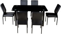 View Woodness Glass 6 Seater Dining Set(Finish Color - Black) Furniture (Woodness)