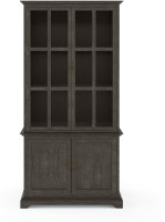 Urban Ladder Eleanor Display Cum Crockery Cabinet Solid Wood Display Unit(Finish Color - Vintage Grey Oak)