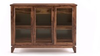 Urban Ladder Akira Sideboard Large Solid Wood Display Unit(Finish Color - Teak)