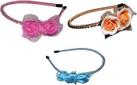 Yashasvi Combo of Multi Color Metal Hairbands Hair Band(Multicolor)