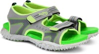 Footfun by Liberty Boys & Girls Velcro Strappy Sandals(Green)