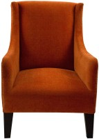 View Inliving Solid Wood Living Room Chair(Finish Color - Tangerine & Walnut) Furniture (InLiving)