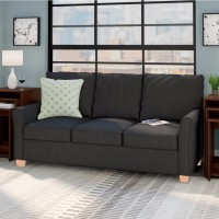 View Furny San Antonio Fabric 3 Seater(Finish Color - Dark Grey) Furniture (Furny)