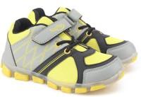 Footfun by Liberty Boys & Girls Velcro Moccasins(Yellow)