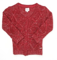 Pepe Jeans Woven Round Neck Casual Girls Red Sweater