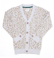 Pepe Jeans Printed V-neck Casual Girls Beige Sweater