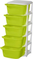 View ShopyBucket High Quality Long lasting Stroage Box Plastic Free Standing Chest of Drawers(Finish Color - Green, Door Type- Framed Sliding) Furniture (ShopyBucket)