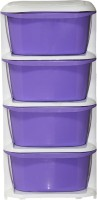 View ShopyBucket High Quality Long lasting Stroage Box Plastic Free Standing Chest of Drawers(Finish Color - Purple, Door Type- Framed Sliding) Furniture (ShopyBucket)