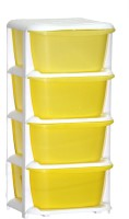 View ShopyBucket High Quality Long lasting Stroage Box Plastic Free Standing Chest of Drawers(Finish Color - Yellow, Door Type- Framed Sliding) Furniture (ShopyBucket)