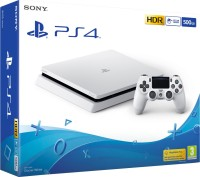 Sony PlayStation 4 (PS4) Slim 500 GB(Glacier White)