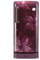 LG 215 L Direct Cool Single Door 3 Star Refrigerator(Scarlet Orchid, GL-D221ASOW)
