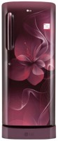 LG 235 L Direct Cool Single Door 4 Star Refrigerator(Scarlet Dazzle, GL-D241ASDX)