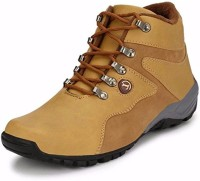 T-Rock Vision Tan Synthetic Leather boots Casuals For Men(Tan)
