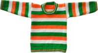 sawo Woven Round Neck Casual Baby Boys & Baby Girls Multicolor Sweater