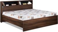 View Delite Kom Urban Engineered Wood Queen Bed(Finish Color -  Acacia Dark & Black) Furniture (Delite Kom)