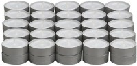 Skycandle in 50 Pcs Set T-light Candle With 3-4 Hrs Burning Time- White Candle(White, Pack of 50)