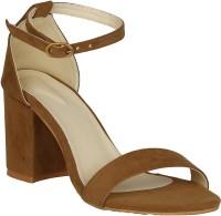 Misto Women Tan Heels