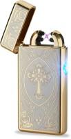 View Arc Lighter Plasma Lighter Dual Arc Electric USB - GC Cigarette Lighter(Gold) Laptop Accessories Price Online(Arc Lighter)