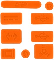 View Pashay USB Orange Anti-dust Plug(Laptop Pack of 9) Laptop Accessories Price Online(PASHAY)
