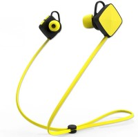 ShopyBucket Sports Music Stereo M3 HD Dynamic Wireless Headphone_HQ78 Headset with Mic(Yellow, Black, In the Ear)